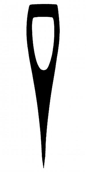Ochsenkopf Beilstiel für kantiges Auge, mit Kuhfuß